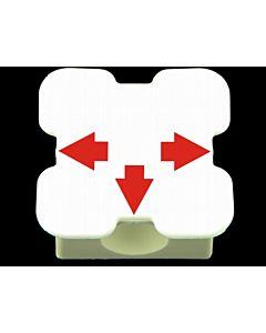 Element maty 3 otwory  (biały)