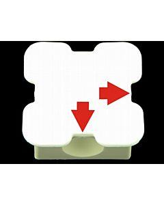 Element maty 2 otwory (biały)