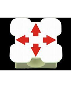 Element maty 4 otwory (biały)