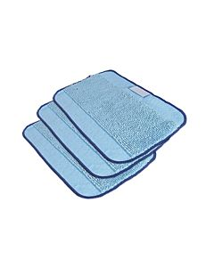 Zestaw - 3 niebieskie ściereczki z mikrofibry do mopowania Braavia seria 300