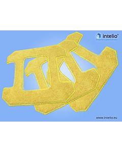 Ściereczki z mikrofibry żółte - do Kwadratowego robota myjącego okna - Hobot 268