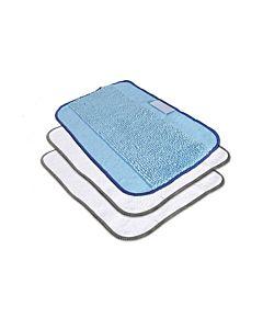 Zestaw - 3 ściereczeki z mikrofibry (1 x do mopowania, 2 x do sprzątania na sucho) Braavia seria 300